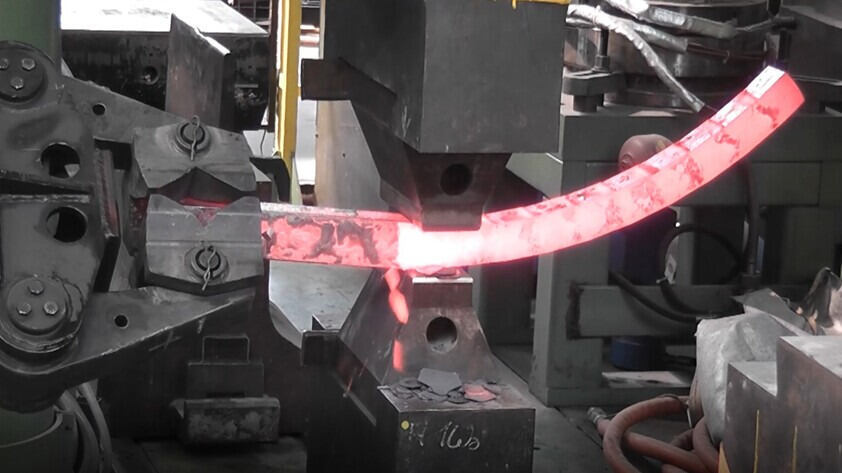 Bended Forging Component