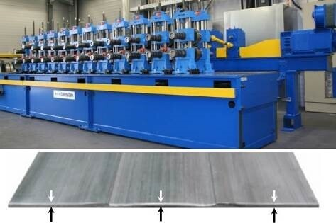 Machine for Strip Profile Rolling and rolled strip