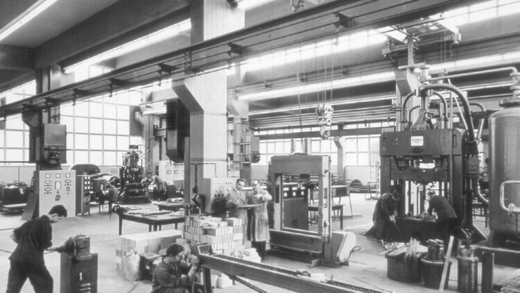 Machine laboratory of IBF in 1958